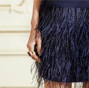 Club Monaco Benita Feather Dress
